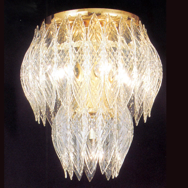Kerchief 4-light Polished Brass Finish Flush-mount Fixture