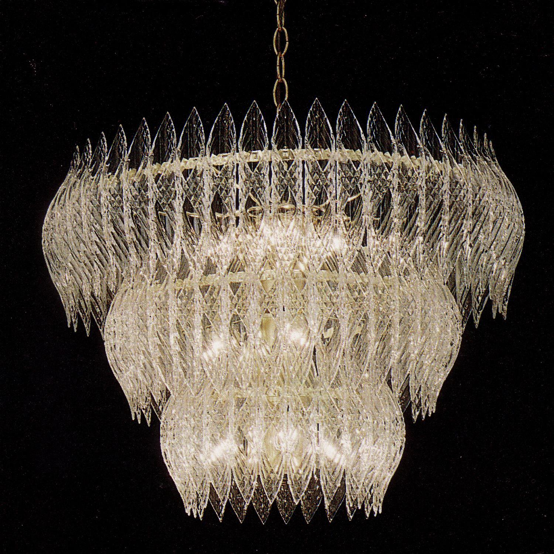Kerchief 11-light Polished Brass Finish Chandelier