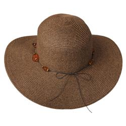 Adi Designs Women's 4-inch Flat Brim Paper Braid Sun Hat