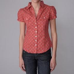 Derek Heart Junior's Cotton Woven Peasant Buttoned Shirt