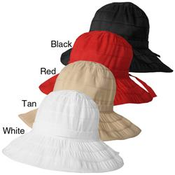 Adi Designs Women's 3.5-inch Brim Ribbon Bucket Hat