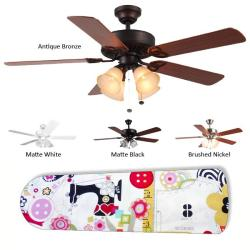 New Image Concepts 4-light 'Sewing Paradise' Blade Ceiling Fan