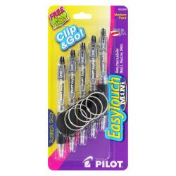 Pilot Easy Touch Mini Black Medium Ball-point Pens (Pack of 5)