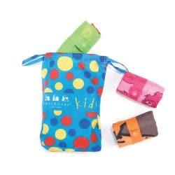 Envriosax Kid's Multicolor Pouch Shopper Tote Bags (Set of Three)