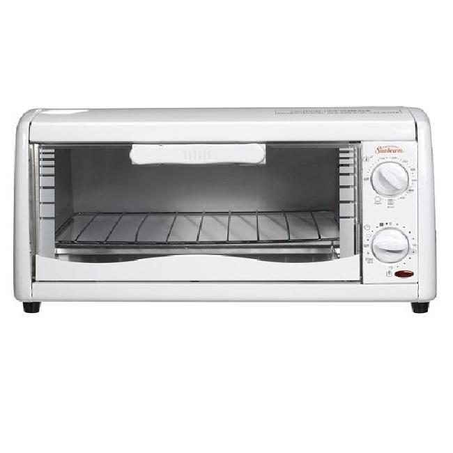 Sunbeam 6198 White 4 Slice Toaster Oven 13542252