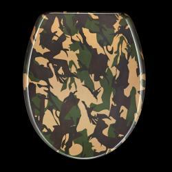 Camouflage Designer Melamine Toilet Seat Cover