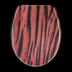 Tiger Skin Print Designer Melamine Toilet Seat Cover