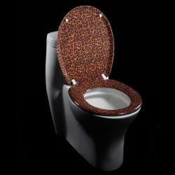 Jaguar Skin Print Designer Melamine Toilet Seat Cover