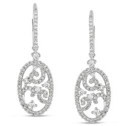 Miadora Signature Collection 14k White Gold 1ct TDW Diamond Dangle Earrings (G-H, SI1-SI2)