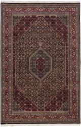 Hand-knotted Mandara Burgundy New Zealand Wool Rug (8'9 x 11'3)