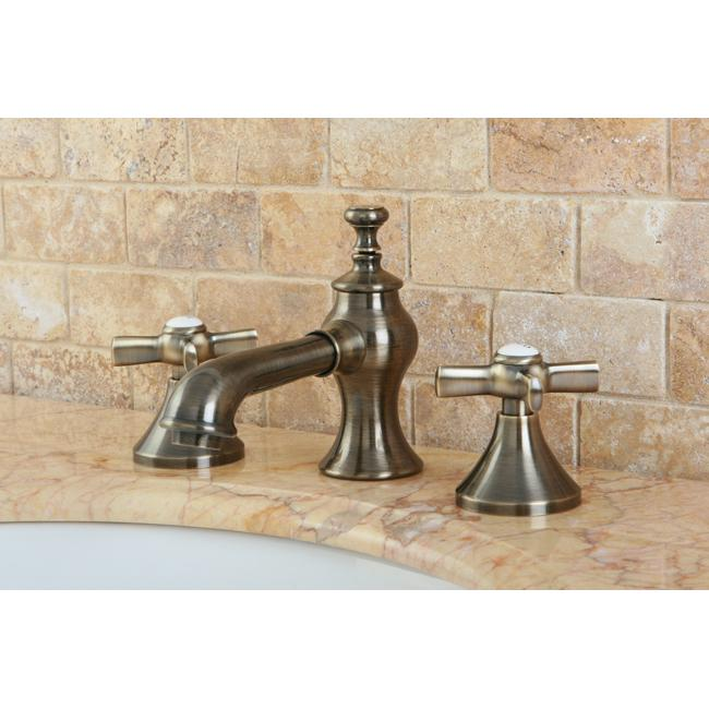 French Country Widespread Vintage Brass Bathroom Faucet