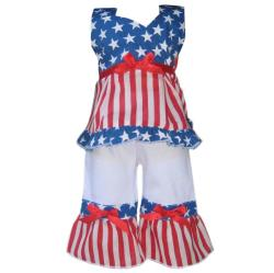 AnnLoren Patriotic 4th of July Outfit for American Girl Doll