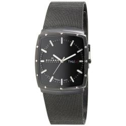 Skagen Men's Stylish Black Stainless Steel Mesh Watch