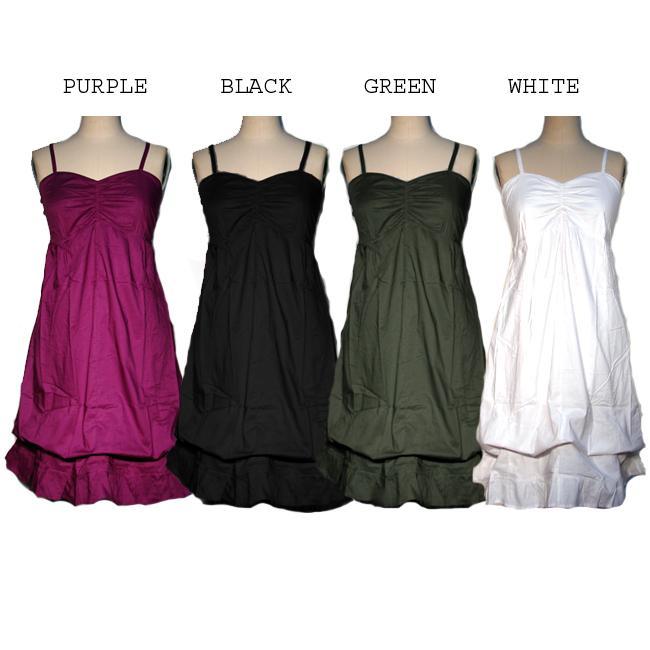 Women's Cotton Ruffled Dress (Nepal)