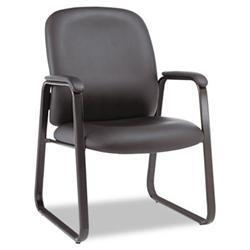 Alera Genaro Series Guest Chair- Black Leather-