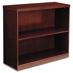 Mayline Luminary Series 2-shelf Cherry Bookcase