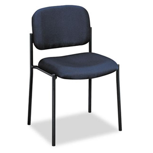 basyx by HON VL606 Series Navy Fabric Stacking Armless Guest Chair