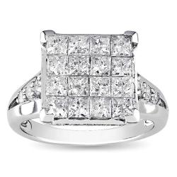 14k Gold 2ct TDW Multi Stone Princess Cut Diamond Ring (G-H, I1-I2)