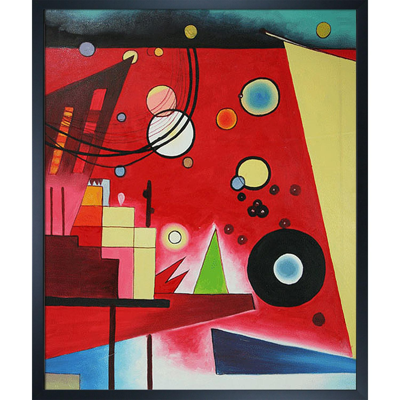 Wassily Kandinsky Schweres Rot (Heavy Red) 1924 Framed Canvas Art