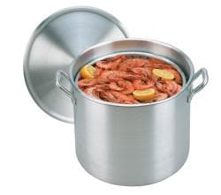 King Kooker 22-quart Aluminum Boiling Pot with Steam Basket and Lid