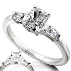 14k White Gold 1 1/3ct TDW Certified Diamond Engagement Ring (F, SI2)