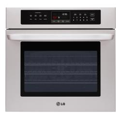 LG Stainless Steel 30-inch Blue Interior Single Wall Oven