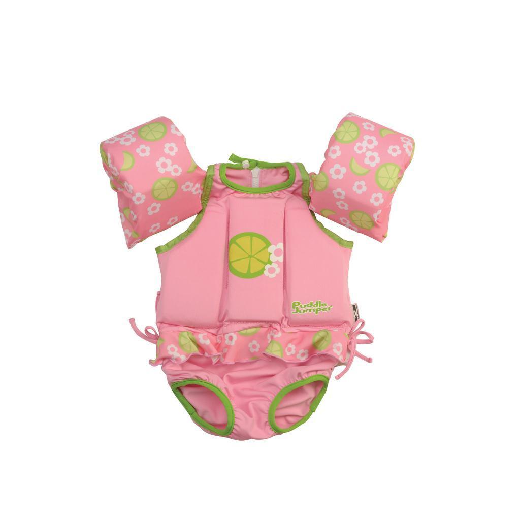 Coleman Children's Girl Lime Puddle Jumper Kids Suit Life Jacket