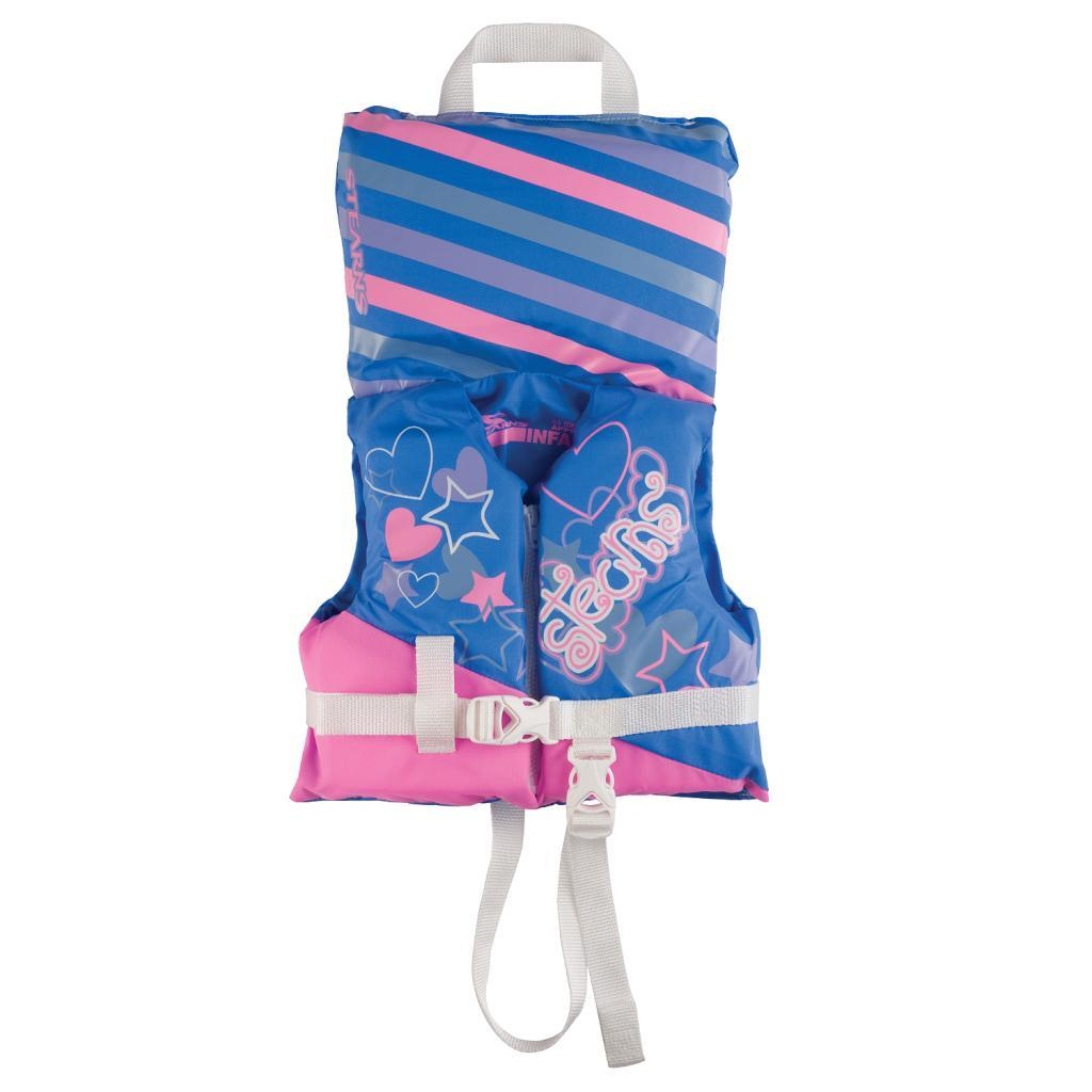 Coleman Infant Blue/ Pink Antimicrobial Life Jacket