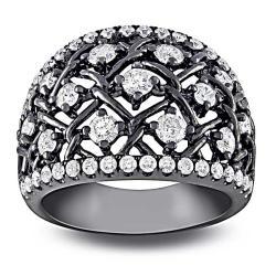 Miadora 14k White Gold 1 1/3ct TDW Round-cut Diamond Ring (G-H, SI1-SI2)