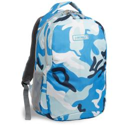 J World &#39;Cornelia&#39; Blue Camouflage Ergonomic 19-inch School Backpack