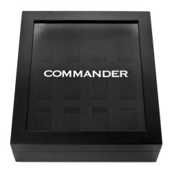 Swiss Legend 'Commander' 12 Slot Black MDF Watch Box