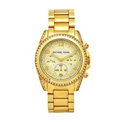 Michael Kors Women's Blair Goldtone Stainless Steel Chronograph Watch