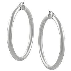 Stainless Steel 65-mm Round Hoop Earrings