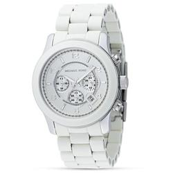 Michael Kors Women's White Oversized Dial Watch