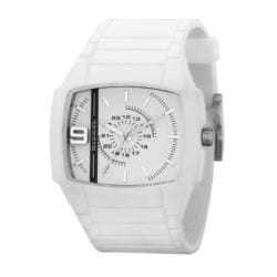 Diesel Men's Stainless Steel Case White Silicon Strap Watch