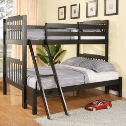 Simone Black Twin and Full Bunk Bed