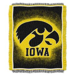 Northwest Iowa Hawkeyes Focus Jacquard Throw