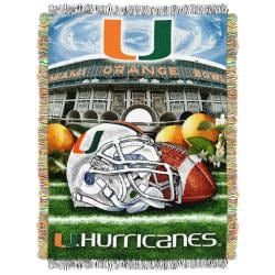 Northwest Miami Hurricanes Homefield Tapestry Throw