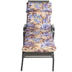 Bria Floral Outdoor Brown/ Purple Chaise Lounge Chair Cushion