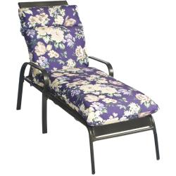 Pia Floral Outdoor Purple Chaise Lounge Chair Cushion | Overstock ...