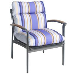 Bria Stripe Outdoor Brown/ Purple Club Chair Cushion