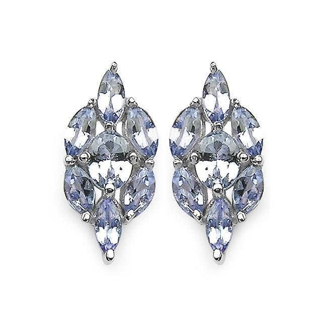 Malaika Sterling Silver Genuine Tanzanite Earrings