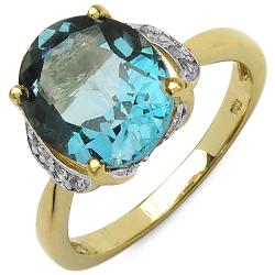 Malaika Sterling Silver Oval-cut Blue Topaz Ring