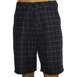 Ashworth Men's Flat Front Navy Plaid Shorts (Size 32)