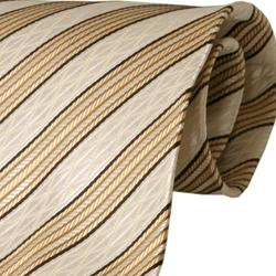 Boston Traveler Men's Lime Striped Tie Hanky Set