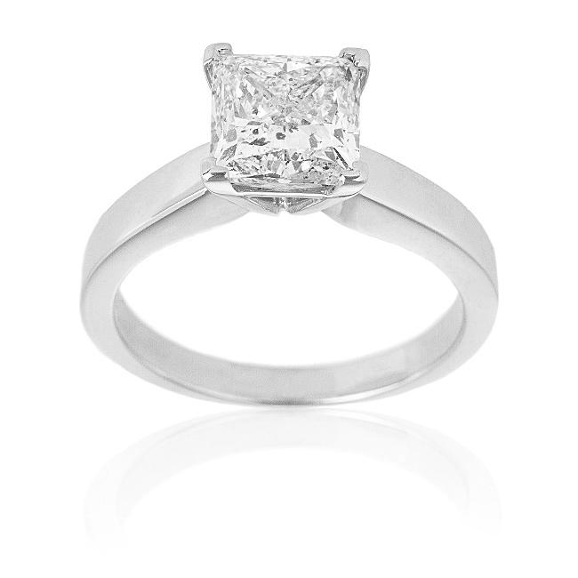14k White Gold 2ct TDW Certified Diamond Solitaire Engagement Ring (H-I, I1)