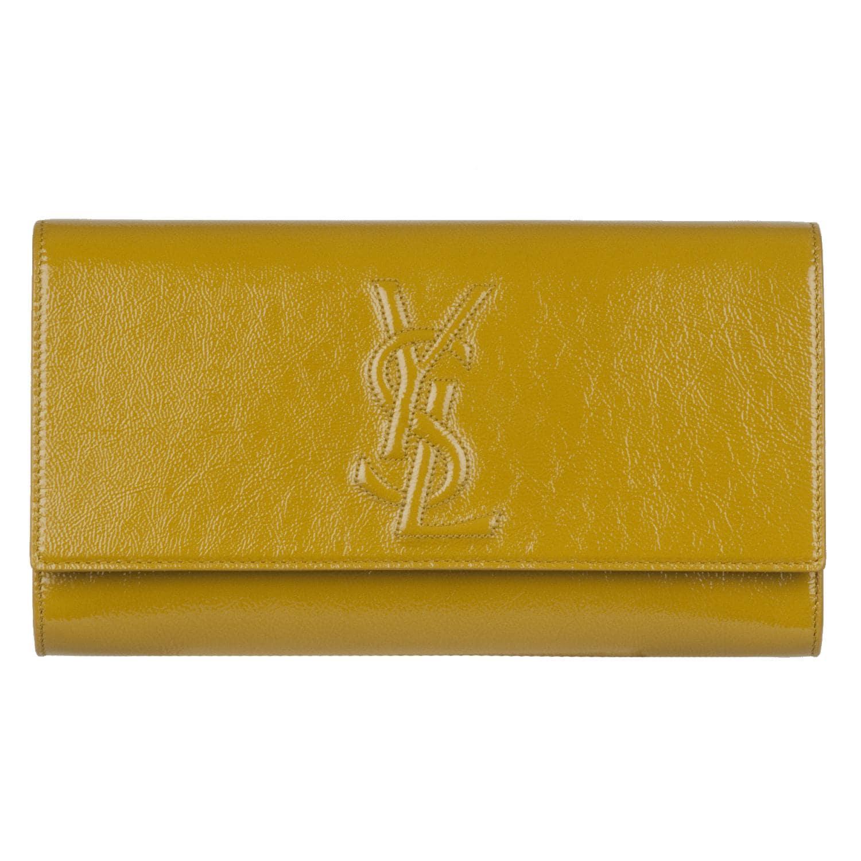 yves saint laurent handbags - Yves Saint Laurent 203855 Large Yellow Patent Leather Clutch ...