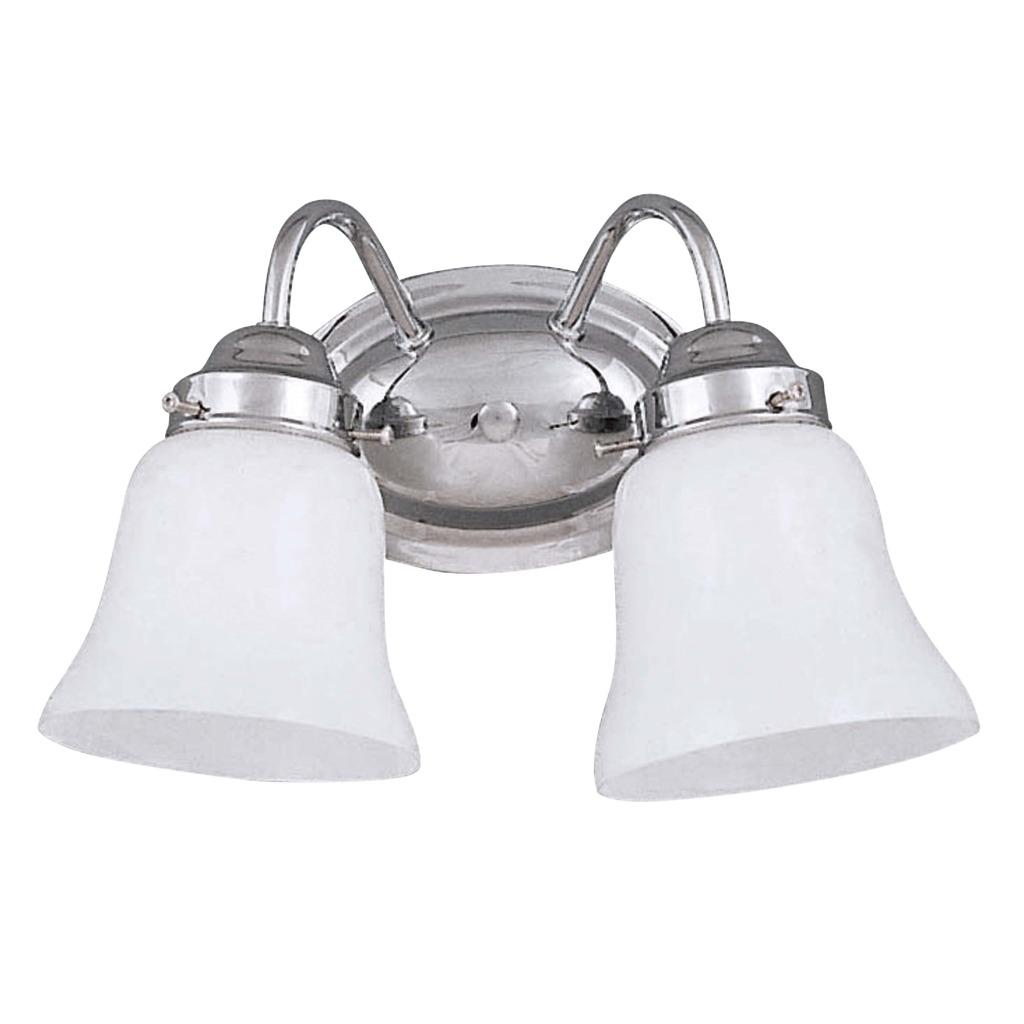 Indoor Transitional Two-Light Chrome Bath Wall Sconce