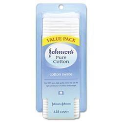 Johnson & Johnson Pure Cotton Swabs- 525/Pack