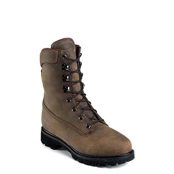 """Chippewa Boy's 'M 9"""" Waterproof Lace Up' Leather Boots (Size 6)"""